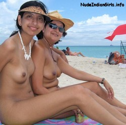 Desi Mom n Daughter Nude Sitting On Beach Showing Boobs PIcs
