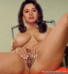 Madhuri Dixit Showing her Milky Boobs & Pussy [Fake]