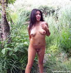 Sexy Girl Showing her Nude Body In a Jungle Pics